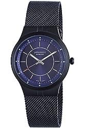 "Johan Eric Men's JE3100-13-003 ""Skive"" Black Stainless Steel Mesh Ultra-Slim Watch"