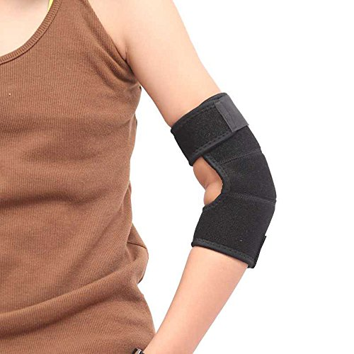 Sport Unisex Kids Elbow Pad, Fitness Adjustable Breathable Non Slip Sleeve Double Magic Stick Compression Elbow Brace Support Wraps for Sport, Tendonitis, Tennis Elbow