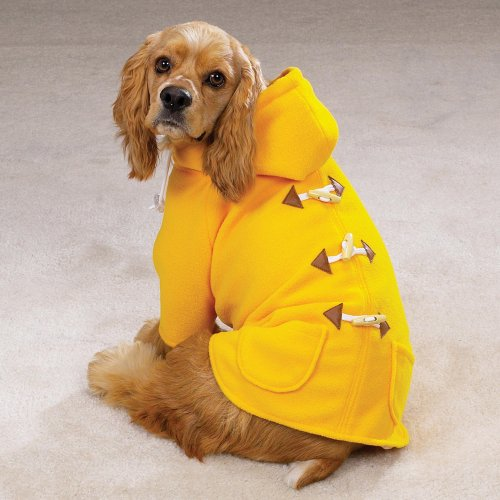 Cheap LARGE – YELLOW – Classic Seamans' Duffle Coat for Dogs