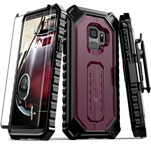Samsung Galaxy S9 Case, ELV [Croco Series] Premium Holster Defender Belt Clip...