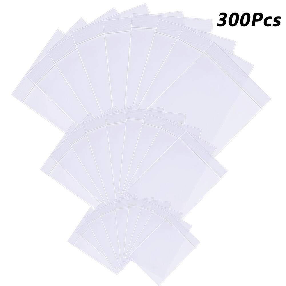 ENCEEN 300Pcs Plastic Seal Bags Clear Resealable Grip Bags Self Lock Plastic Storage Bag Pouches, Big Medium & Mini Sizes(14 x 20cm, 9 x 13cm, 6 x 9cm)