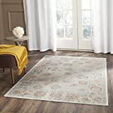 Cheap Safavieh Sevilla Collection SEV812D Silver and Multi Silky Viscose Distressed Area Rug (4′ x 5'7″)