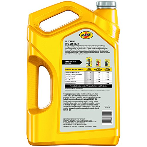 Pennzoil platinum full synthetic motor oil 5w 20 5 quart for Pennzoil 5w 30 synthetic motor oil