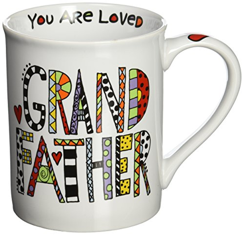 "023376b5c75 Our Name is Mud ""Loved Grandfather"" Porcelain Mug, 16 oz. - Import ..."