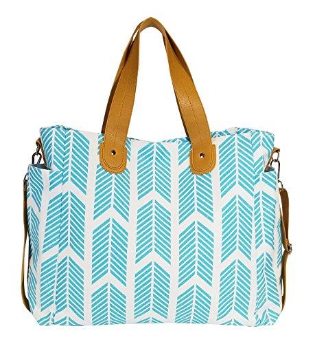 (Aqua Blue Arrows Weekender Tote Bag)
