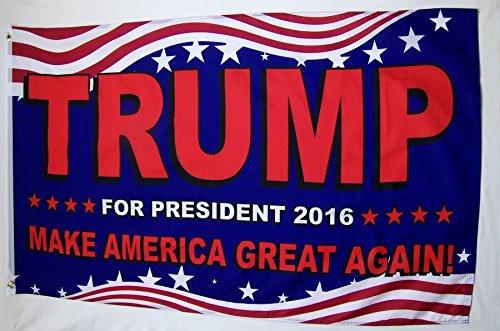 Trump For President Make America Great Again Flag 3' X 5' In