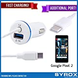 Syrox 20-Pack Type-C Car Charger & Port, Reversible 4 ft Fast Charging for Google Pixel 2, Samsung Galaxy Note 8, S8 Plus, LG V30, V20, G6, G5, Google Pixel, 6P, Nintendo Switch and All