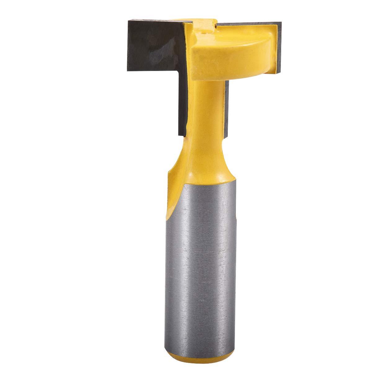 Broca de corte KATUR con ranura en T y gu/ía en T v/ástago de 1//2, ancho de 1.05 broca de ranura con agujero de 1//2 pulgada para fresa de carburo para trabajar la madera