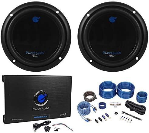 "(2) PLANET AUDIO AC10D 10"" 3000W Subwoofers+AC2000.2 2 Channel Amplifier+Amp Kit 51ct2K1Jg5L"