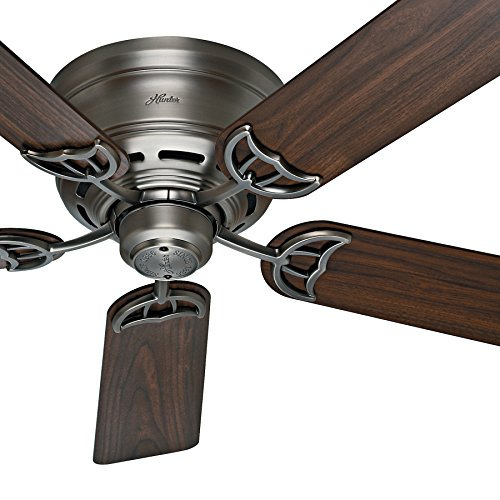Hunter Fan 52 inch Low Profile Ceiling Fan in Antique Pewter, 5 Blade (Renewed)