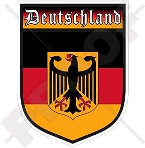 ALEMANIA Deutschland Alemán Escudo DEUTSCH 100mm (4