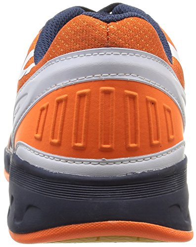 KempaAttack Three - Zapatillas de Balonmano Hombre Azul - Bleu (Marine/Orange/Blanc)