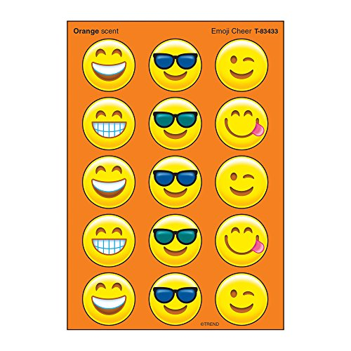 Emoji Orange Scented Stickers 60 count