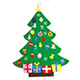 KEYNEW Fantastic Funny Kid's Toy Wall Hanging Puzzle Tree – 3FT Handmade Felt Learn to Decor (Double Sided Tape)