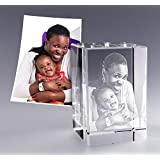 Personalized Custom 3D Photo Etched Engraving on Crystal Gift - send us your picture and we will do the rest! (Birthday , Anniversary, Wedding, Corporate , Mother's Day , Valentine's or Christmas)