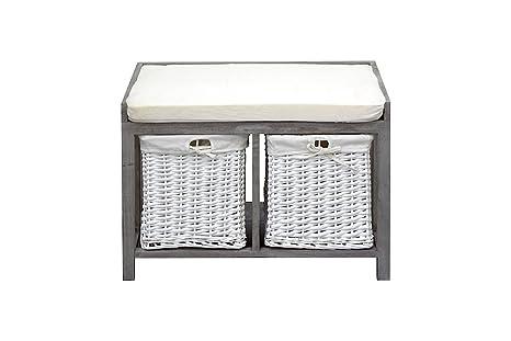 Panca Contenitore Bagno : Rebecca mobili panca contenitore con 2 cassetti panchina da