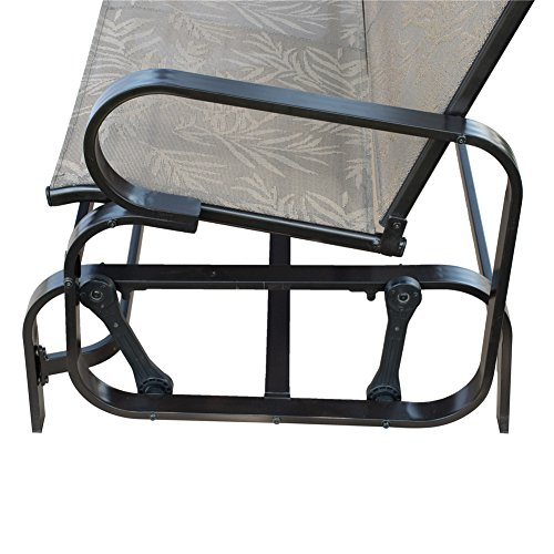 Patiopost Outdoor Swing Glider Bench Aluminum Chair For 2