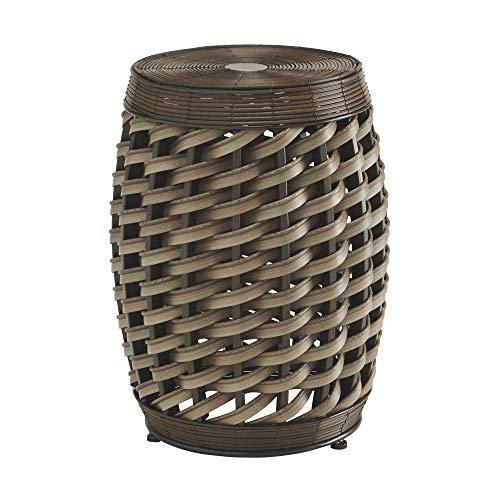 Designs Furniture Allure - Ashley Furniture Signature Design - Elgielyn Indoor/Outdoor Accent Table - Contemporary - Faux Rattan in Brown - Barrel Design
