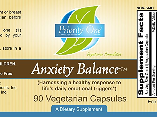 Priority One Vitamins Anxiety Balance 90 Vegetarian Capsules - Support a Healthy Relaxed State of Wellbeing and restful Sleep* - Botanical Supplement for Mood and Stress Management* by Priority One Nutritional Supplements (Image #2)