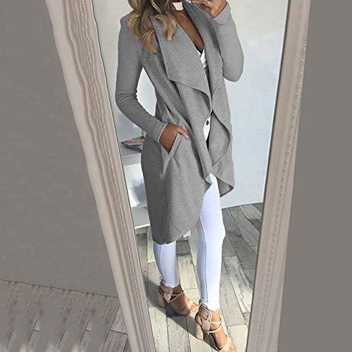 Tricotés Gris Irrégulier Manteaux Femmes Cardigans Beauty Hiver Vin Décontractés Automne Wlgreatsp WqfvnaO