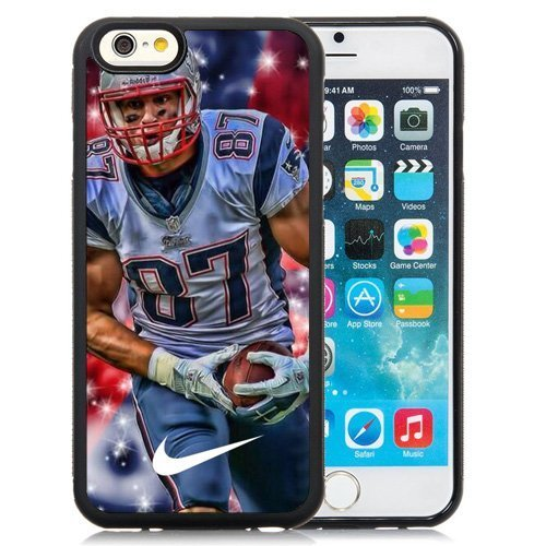 IPhone 6/6s Plus case DIY American Football Player Rob Gronkowski Custom Case Shell Cover for iPhone 6/6S Plus TPU (Laser Technology2)