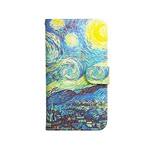 MOONCASE Case for Motorola Moto G Premium PU Leather Flip Wallet Style and Kickstand [The Starry Night] Design TPU Case Cover