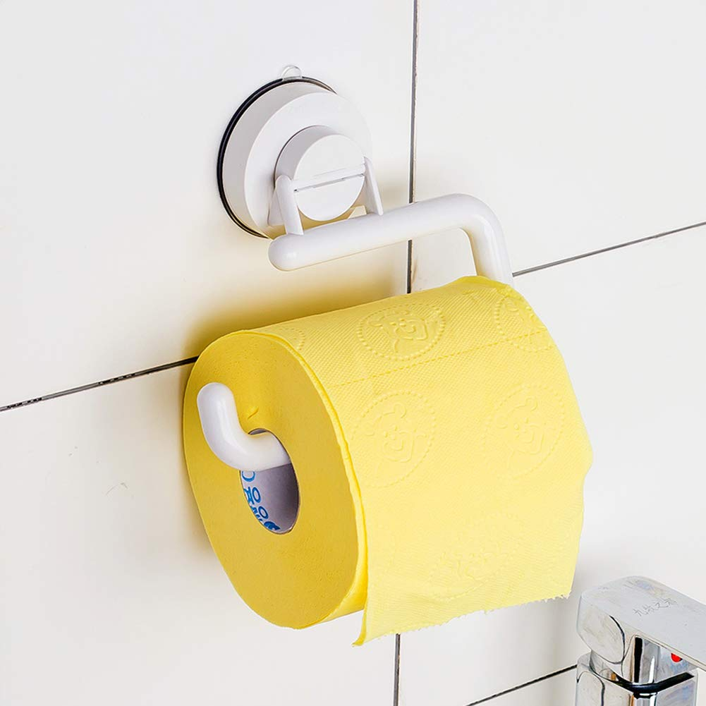 Q&F Toilet Paper Holder,Tissue Roll hanger- Wall Mount,Waterproof,Moisture Proof,Rust Protection,Plastic-B