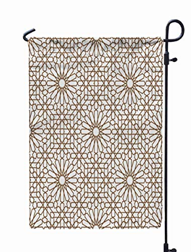 Shorping Season Garden Flag, 12x18Inch for Holiday and Seasonal Double-Sided Printing Yards Flags Background with a Seamless Pattern in Arabian Style -