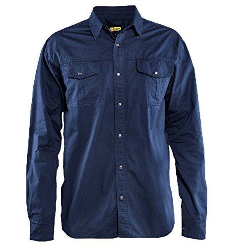 329711358900XXXL Long Sleeves Twill Shirt Size XXXL In Navy Blue