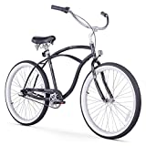 Firmstrong Urban Man Three Speed Beach Cruiser Bicycle, 26-Inch, Black