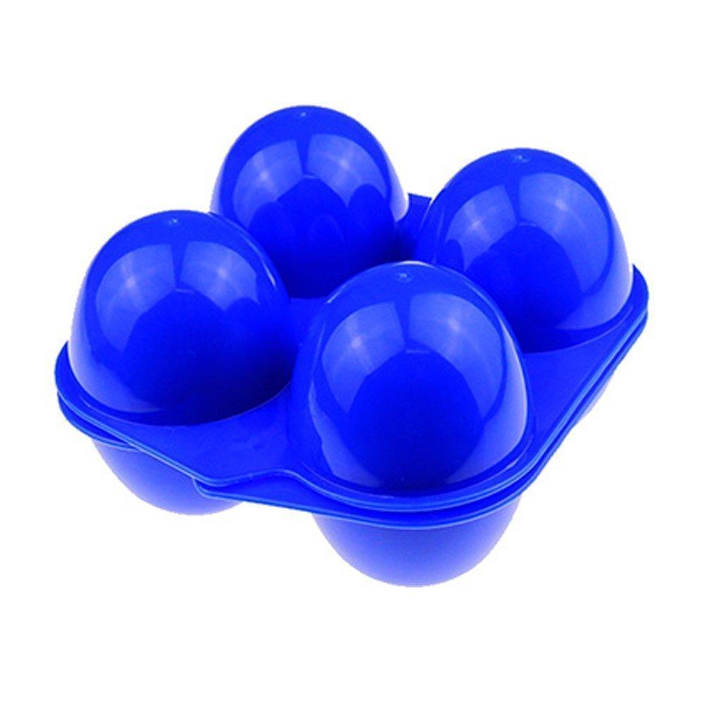 Fubarbar Plastica uovo contenitore vassoio vettori portatile pieghevole porta uova uovo portaoggetti portatile per campeggio all' aperto (blu, 4uova)