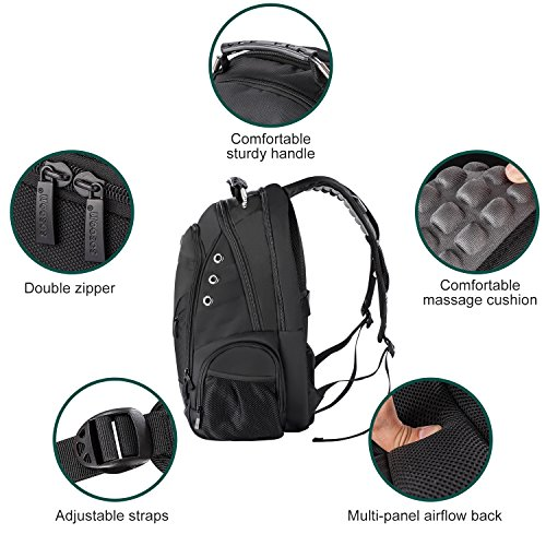 Sosoon Laptop Backpack, Business Anti-Theft Travel Backpack with USB Charging Port, Water Resistant Large Compartment College School Computer Bag for Men and Women for 15.6 inch Laptop and Notebook by Sosoon (Image #4)