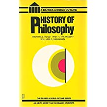 History of Philosophy (College Outline)