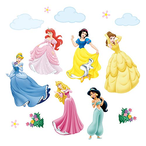 Princess Baby Nursery - decalmile Princess Wall Stickers Murals Removable Vinyl Girls Room Wall Decals Nursery Baby Bedroom Wall Decor (6 Different Theme Princess)