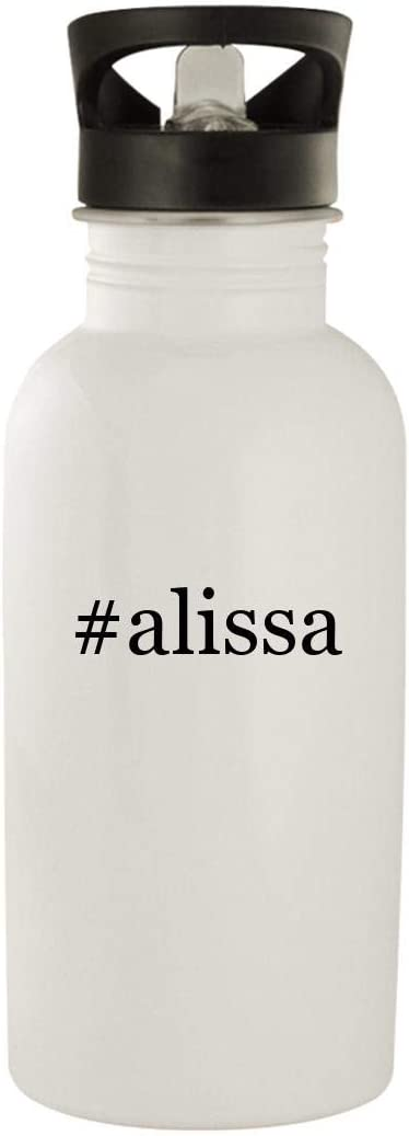 #alissa - Stainless Steel Hashtag 20oz Water Bottle, White 51ct6-877hL