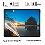New 💘Tuscom 2Pcs HD PET Soft Film Screen Protector Film,for iPad Pro 11/12.9 inch,Esistant to Erosion/Finger Print/Dust/Scratches Clear Soft Screen Protector (11inch)