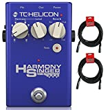 TC Helicon Harmony Singer 2 Vocal Processing Pedal with (2) 20' XLR Cables