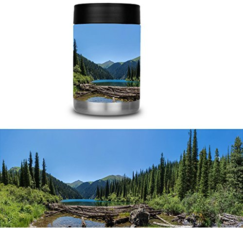 Mountain Lake Can Cooler Skin Cast Vinyl Wrap Yeti Rambler Colster RTIC by avgrafx