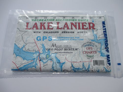 Lake Lanier North, Georgia Fishing and Recreation GPS Charts and Coordinates for Underwater Structures by Atlantic Mapping, Inc.
