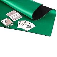 アンチスリップとノイズリダクションラバーフォーム麻雀マット カードゲームテーブルカバー ポーカーマット ボードゲーム テーブルカバー - グリーンの商品画像