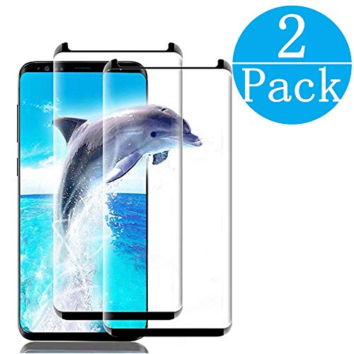 [2Pack] Compatible Galaxy S8 Plus Screen Protector Tempered Glass,[Anti-Fingerprint][No-Bubble] Glass Screen Protector Compatible Samsung Galaxy S8 Plus