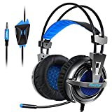 #6: KingTop PS4 Gaming Headset Over Ear Stereo Bass Gaming Headphone with Noise Isolation Microphone for PS4 Xbox One S PC Mobile Phones