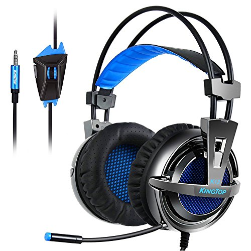 Gaming Headset PS4 Xbox KingTop K12 Stereo Kopfhörer mit Mikro für PS4 Xbox One PC Laptop iPad iPhone Smartphone