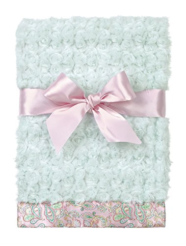 Bearington Baby Swirly Snuggle Blanket (Teal) 28.5