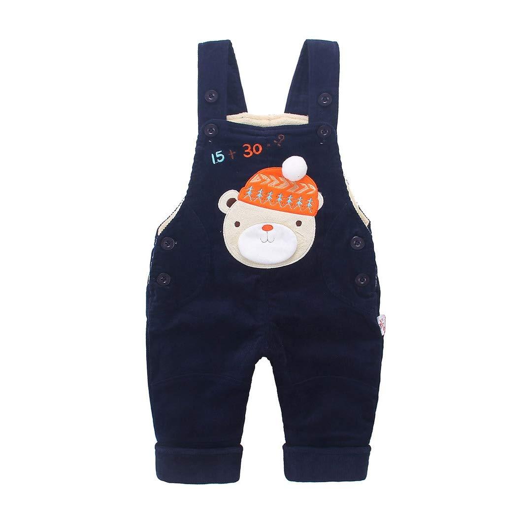 AOOPOO Baby Tr/ägerhose warm gef/üttert Jungen M/ädchen Latzhose Overall Hose Winter