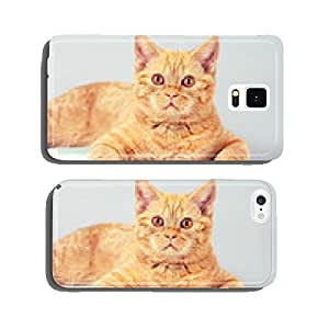 Cute business cat wearing glasses reading notebook (book) cell phone cover case Samsung S6