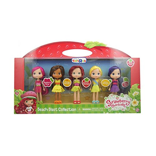 Strawberry Shortcake 6 inch Fashion Doll Multipack - Beach Blast Collection: Strawberry, Raspberry, Cherry, Orange and Lemon