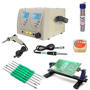 Estación de Soldadura ZD-917 2en1 + desoldador + Juego de Accesorios Profesionales para Soldadura: Amazon.es: Electrónica
