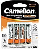 Camelion NH-AA2300BP4 Níquel metal hidruro 2700mAh 1.2V batería recargable - Batería/Pila recargable (2300 mAh, Níquel metal hidruro, AA, 1,2 V, Plata, 4)