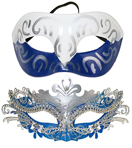 Buy blue masquerade mask for couples